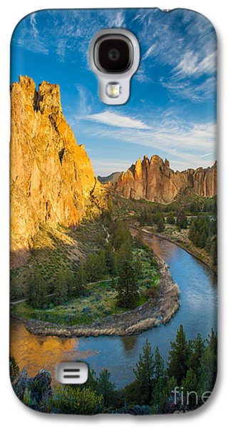 Harmonious Galaxy S4 Cases - Smith Rock River Bend Galaxy S4 Case by Inge Johnsson