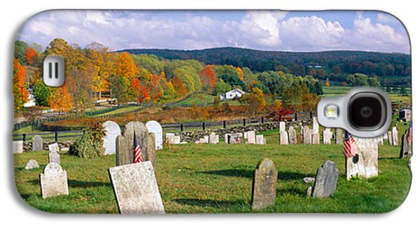 Headstones Galaxy S4 Cases - Smithfield Cemetery And Farms Galaxy S4 Case by Panoramic Images