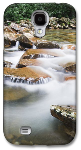 Landscapes Photographs Galaxy S4 Cases - Smokey Mountain Creek Galaxy S4 Case by Adam Romanowicz