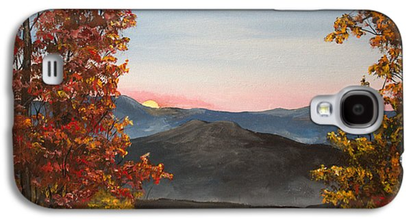 Smokey Mountains Paintings Galaxy S4 Cases - Smokey Mountains Sunrise Galaxy S4 Case by Julia Robinson