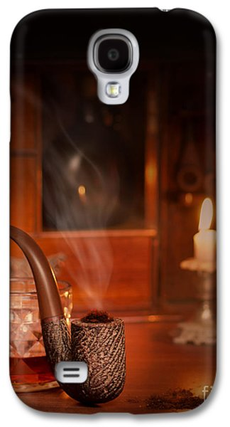 Whisky Galaxy S4 Cases - Smoking Pipe Galaxy S4 Case by Amanda And Christopher Elwell
