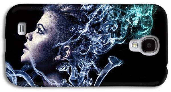 Digital Galaxy S4 Cases - Smoking Galaxy S4 Case by Samuel Whitton