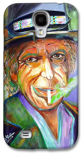 Keith Richards Paintings Galaxy S4 Cases - Smoking Galaxy S4 Case by To-Tam Gerwe
