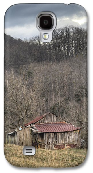 Tennessee Hay Bales Galaxy S4 Cases - Smoky Mountain Barn 1 Galaxy S4 Case by Douglas Barnett
