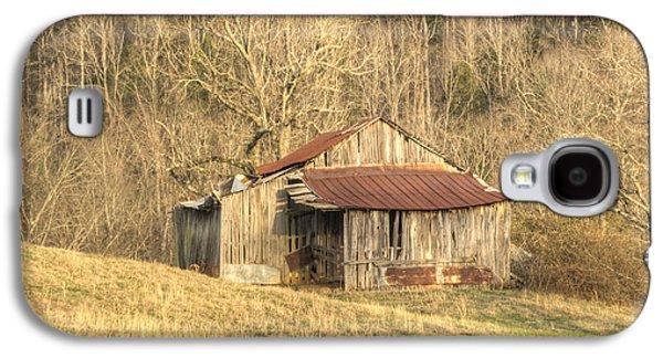 Tennessee Hay Bales Galaxy S4 Cases - Smoky Mountain Barn 11 Galaxy S4 Case by Douglas Barnett