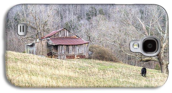 Tennessee Hay Bales Galaxy S4 Cases - Smoky Mountain Barn 2 Galaxy S4 Case by Douglas Barnett