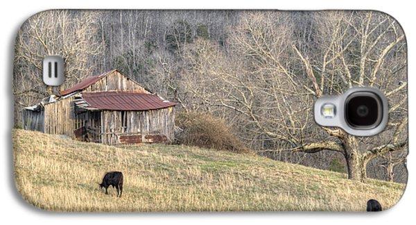 Tennessee Hay Bales Galaxy S4 Cases - Smoky Mountain Barn 3 Galaxy S4 Case by Douglas Barnett