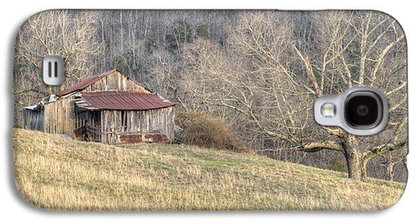 Tennessee Hay Bales Galaxy S4 Cases - Smoky Mountain Barn 4 Galaxy S4 Case by Douglas Barnett