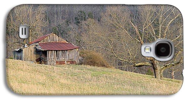 Tennessee Hay Bales Galaxy S4 Cases - Smoky Mountain Barn 5 Galaxy S4 Case by Douglas Barnett