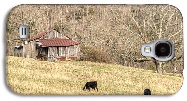 Tennessee Hay Bales Galaxy S4 Cases - Smoky Mountain Barn 6 Galaxy S4 Case by Douglas Barnett