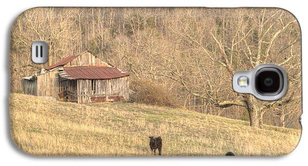Tennessee Hay Bales Galaxy S4 Cases - Smoky Mountain Barn 8 Galaxy S4 Case by Douglas Barnett