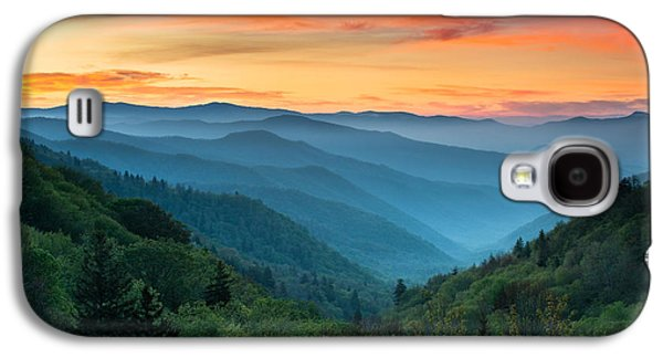 Mountain Valley Galaxy S4 Cases - Smoky Mountains Sunrise - Great Smoky Mountains National Park Galaxy S4 Case by Dave Allen