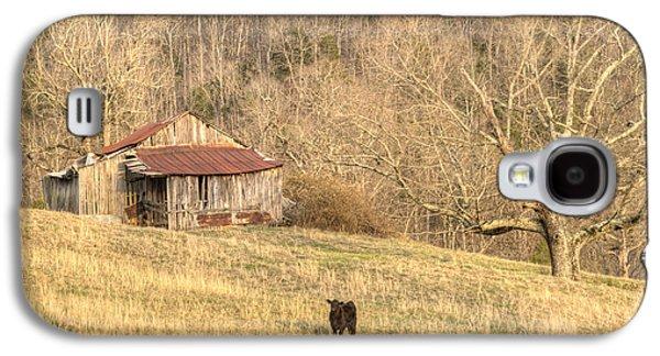 Tennessee Hay Bales Galaxy S4 Cases - Smoky Mountian Barn 7 Galaxy S4 Case by Douglas Barnett
