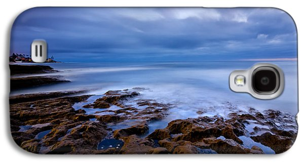 Beach Landscape Galaxy S4 Cases - Smooth Blue Galaxy S4 Case by Peter Tellone