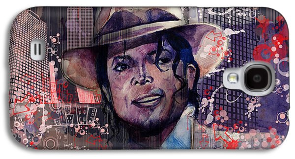 King Of Pop Galaxy S4 Cases - Smooth Criminal Galaxy S4 Case by MB Art factory