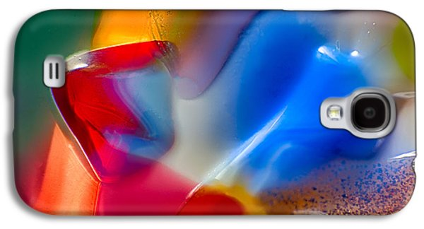Blue Abstracts Glass Galaxy S4 Cases - Smurfette Galaxy S4 Case by Omaste Witkowski