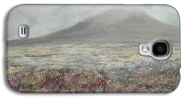 Fog Mist Pastels Galaxy S4 Cases - Snaefell Heather Galaxy S4 Case by Stanza Widen