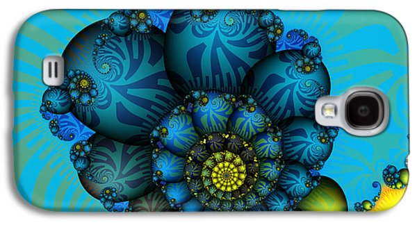 Mathematical Design Galaxy S4 Cases - Snail Mail-Fractal Art Galaxy S4 Case by Karin Kuhlmann