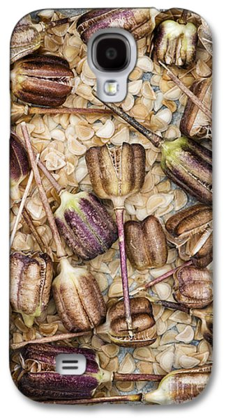 Meleagris Galaxy S4 Cases - Snakes head fritillary Flower Seeds Pattern Galaxy S4 Case by Tim Gainey