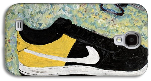 Nike Paintings Galaxy S4 Cases - Sneaker and Sportcars Galaxy S4 Case by Mark Stiles