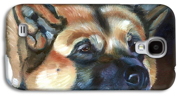 Puppies Galaxy S4 Cases - Snooze Galaxy S4 Case by Lyn Cook