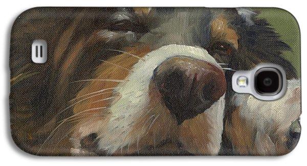 Sleeping Dog Galaxy S4 Cases - Snoozing Galaxy S4 Case by Alecia Underhill