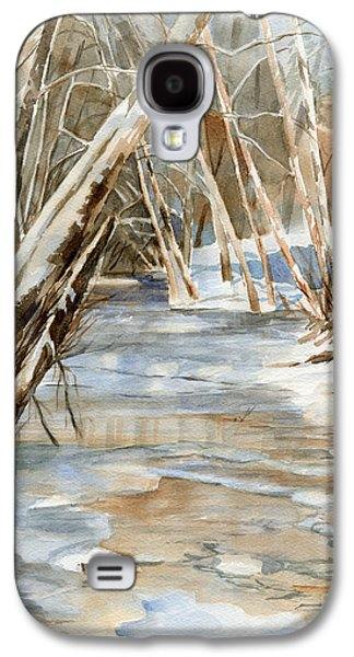 Snow Landscape Galaxy S4 Cases - Snow at Cameron Creek Galaxy S4 Case by Sharon Freeman