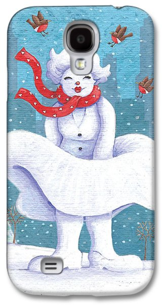 Business Galaxy S4 Cases - Snow Business Marilyn Galaxy S4 Case by Peter Adderley