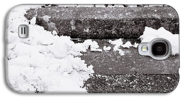 Asphalt Galaxy S4 Cases - Snow by the kerb Galaxy S4 Case by Tom Gowanlock