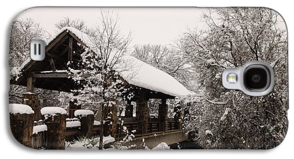 Business Decor Galaxy S4 Cases - Snow Covered Bridge Galaxy S4 Case by Robert Frederick