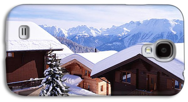 Snow-covered Landscape Photographs Galaxy S4 Cases - Snow Covered Chapel And Chalets Swiss Galaxy S4 Case by Panoramic Images
