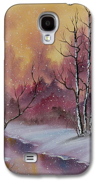 Sawtooth Mountain Paintings Galaxy S4 Cases - Winter Enchantment Galaxy S4 Case by C Steele