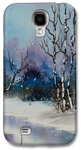 Bob Ross Paintings Galaxy S4 Cases - Winter Enchantment II Galaxy S4 Case by C Steele