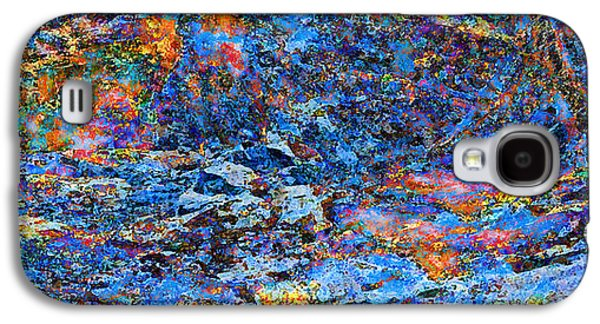 Abstract Digital Galaxy S4 Cases - Snow-Fire Night Galaxy S4 Case by Stephanie Grant