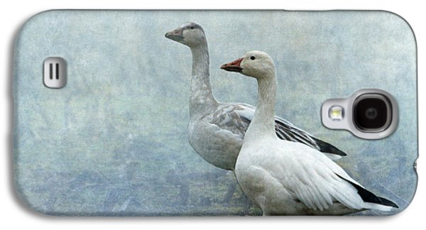 Snow Geese Galaxy S4 Case by Angie Vogel