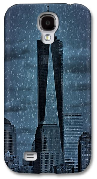 Statue Of Liberty Mixed Media Galaxy S4 Cases - Snow In New York City Galaxy S4 Case by Dan Sproul