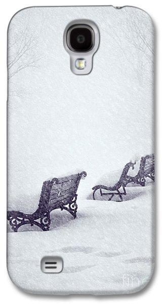 Landscapes Pyrography Galaxy S4 Cases - Snow in the Park Galaxy S4 Case by Jelena Jovanovic