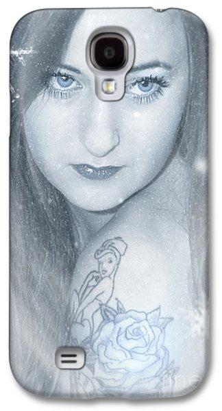 Innocence Mixed Media Galaxy S4 Cases - Snow Lady Galaxy S4 Case by Svetlana Sewell
