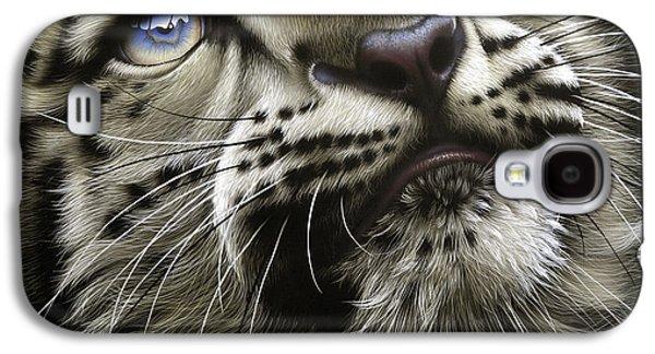 Snow Leopard Cub Galaxy S4 Case by Jurek Zamoyski