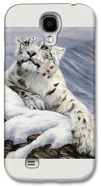 Snow Leopard Galaxy S4 Case by Lucie Bilodeau