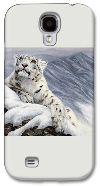 Snow Leopard Galaxy S4 Case by Lucie Bilodeau