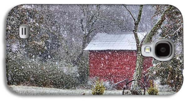 Snow On The Shed Galaxy S4 Case by Benanne Stiens