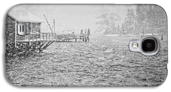 Maine Winter Galaxy S4 Cases - Snow Storm in Bass Harbor on Mount Desert Island Maine Galaxy S4 Case by Keith Webber Jr