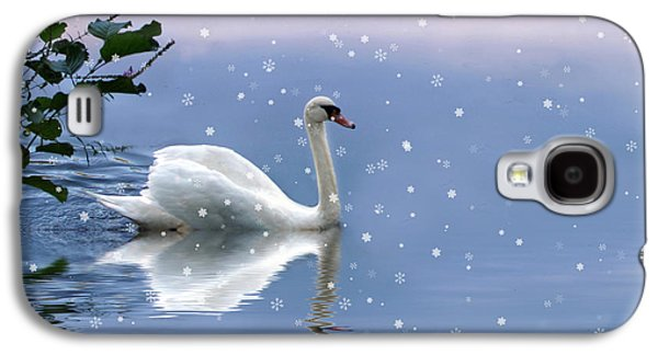 Swans... Galaxy S4 Cases - Snow Swan  Galaxy S4 Case by Jessica Jenney