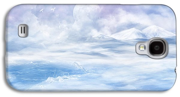 Landscapes Glass Art Galaxy S4 Cases - Snow valley Galaxy S4 Case by Nika Lerman