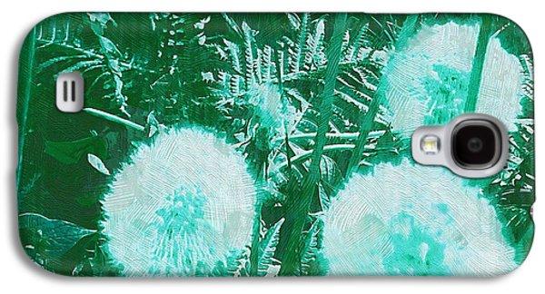 Contemplative Mixed Media Galaxy S4 Cases - Snowballs In The Garden Galaxy S4 Case by Pepita Selles