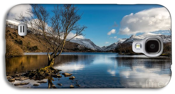 North Wales Digital Art Galaxy S4 Cases - Snowdon And Padarn Lake Galaxy S4 Case by Adrian Evans