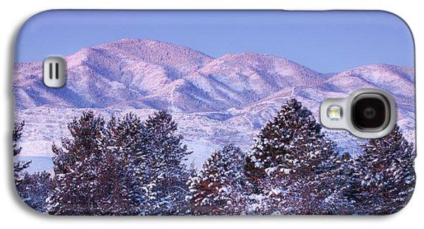 Snow Tree Prints Galaxy S4 Cases - Snowfall Sunrise Galaxy S4 Case by Darren  White