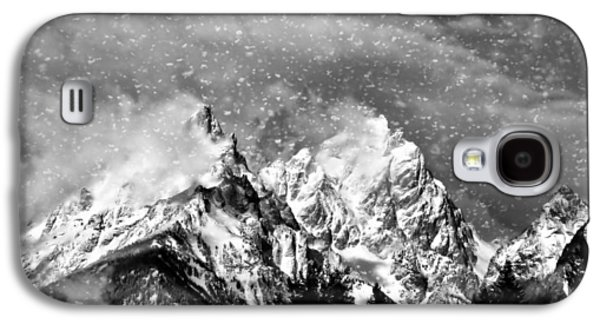 Snow-covered Landscape Digital Art Galaxy S4 Cases - Snowing In The Tetons Galaxy S4 Case by Dan Sproul