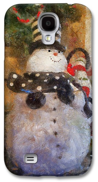 Colorful Abstract Galaxy S4 Cases - Snowman Photo Art 25 Galaxy S4 Case by Thomas Woolworth